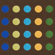 Earthtone Joy Carpets Lots of Dots Kids Rug