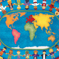 MultiJoy Carpets Hands Around the World Kids Rug