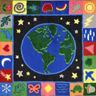 Multi Joy Carpets Earthworks Kids Rug