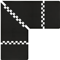 BlackWellnessMats PuzzlePiece - 3' Wide L Series