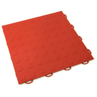 Red Solid Tiles w/ Raised Squares