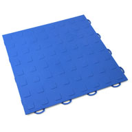 Blue Solid Tiles w/ Raised Squares