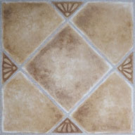 Beige Clay DiamondStone Peel & Stick Vinyl Tile