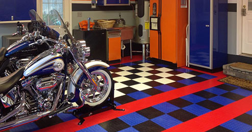 Make your garage your man cave with these flooring ideas
