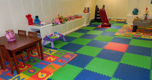 Turn your garage into a playroom