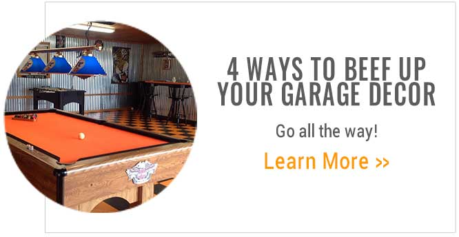 4 ways to beef up your garage decor