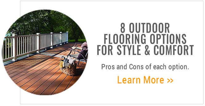 8 Outdoor Flooring Options for style and comfort