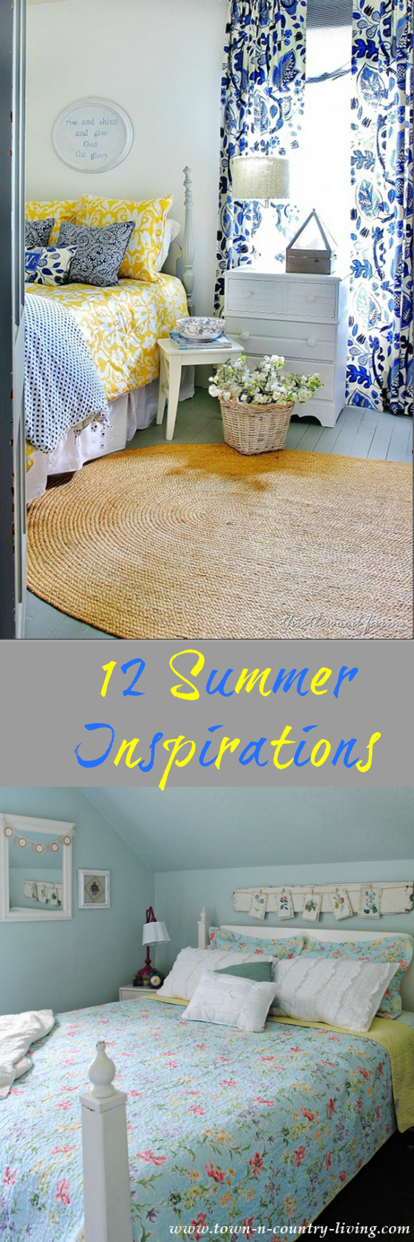 Summer is coming and we've got you covered for decor and DIY projects with these 12 summer inspirations for the home.
