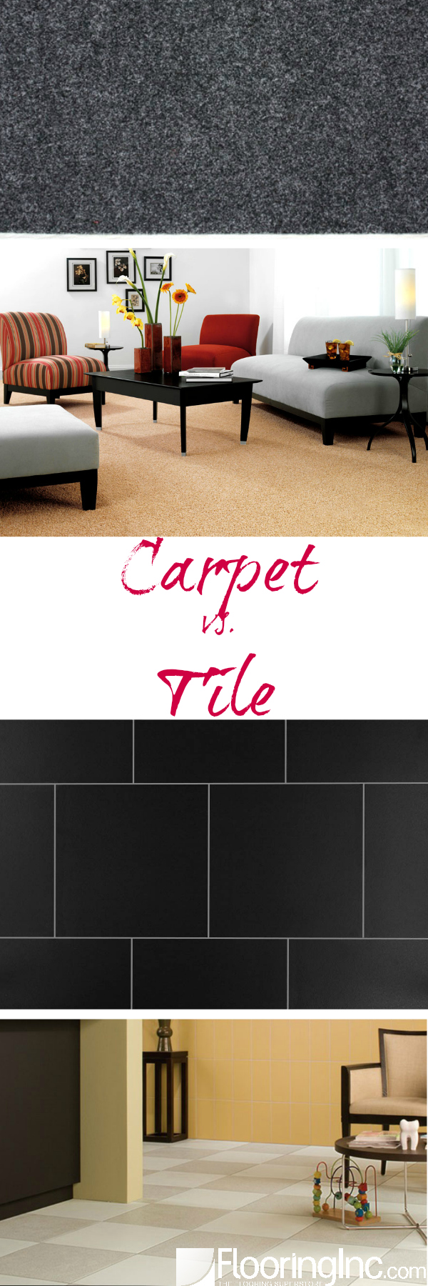 Everything you need to know about choosing between Carpet and Tile