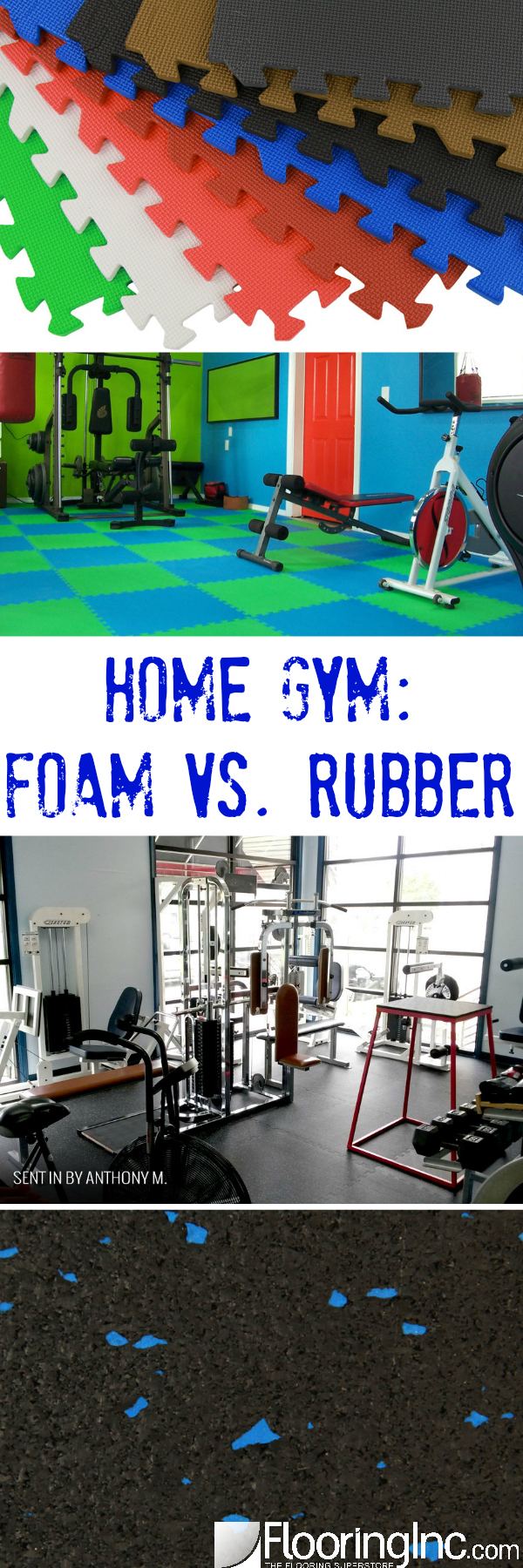 Home gym foam vs rubber flooringinc