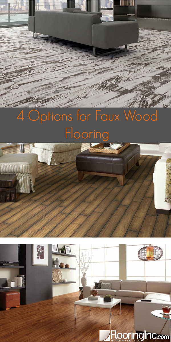 4 Options for Faux Wood Flooring: Get the look of wood without the maintenance and price point!