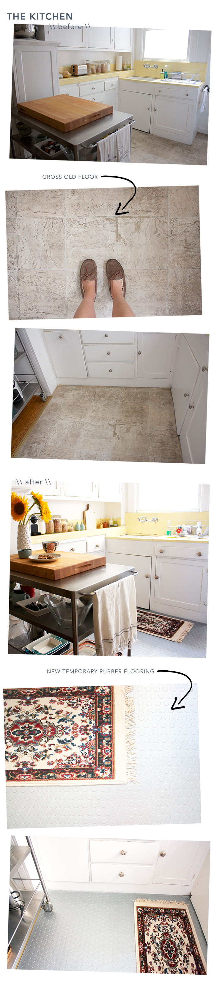 Before and After: Temporary Kitchen Floor - FlooringInc Blog