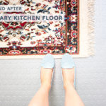 Before and After: Temporary Kitchen Floor -- Affordable, easy and chic DIY rubber floor can transform your apartment kitchen or bathroom in under 2 hours!