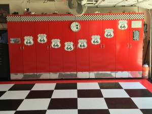 Photo Friday: Grid-Loc tiles turn a regular garage into a stylish, retro man cave!