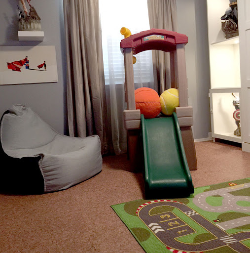 Photo Friday: Premium Soft Wood Tiles turn this playroom into a fun, safe place for kids to play.