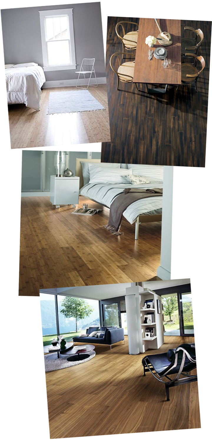 On the Rise: Bamboo Flooring. Bamboo is a gorgeous alternative to traditional hard wood. Environmentally friendly, trendy and chic, this is the perfect addition to any home!