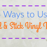 5 Ways to Use Peel & Stick Vinyl Tiles: Low cost, easy to install and perfect for temporary flooring, low traffic areas and so much more! Tables, walls, you name it!
