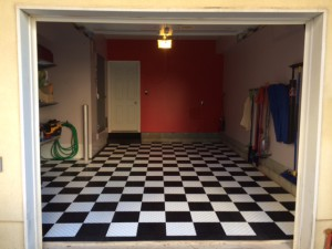 Photo Friday: Diamond Grid-Loc Tiles create the perfect, classic black and white checkered garage