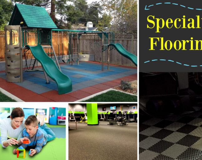 Specialty Flooring: A Floor For Every Need. Check out what flooring options are available beyond traditional in-home flooring with a closer look at rubber, foam, playground and garage flooring options.