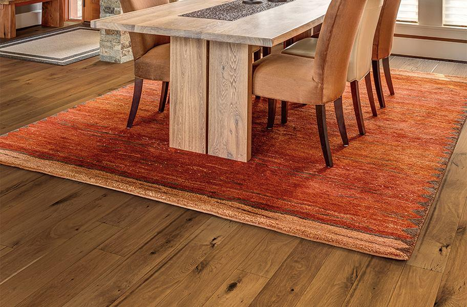 Engineered hardwood in a dining room setting
