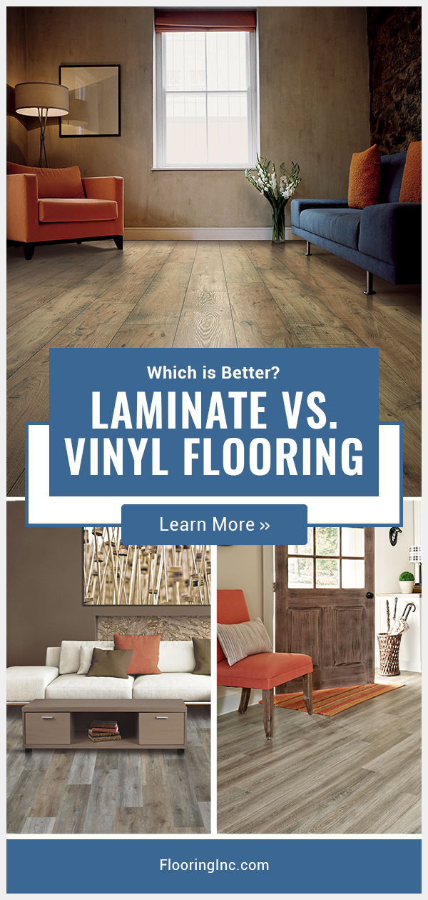 Learn the difference between vinyl and laminate flooring, the pros and cons of each and how to make the best decision for your home with our Laminate vs Vinyl Flooring showdown. #flooringinc #laminateflooring #vinylflooring #flooringideas