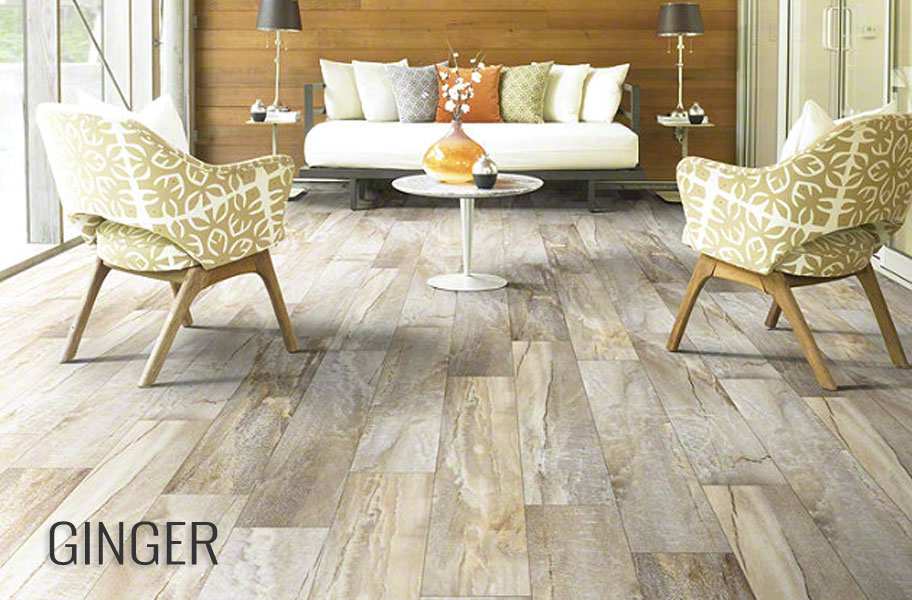 Flooring Inc - Shaw Easy Style Vinyl Planks in a living room setting