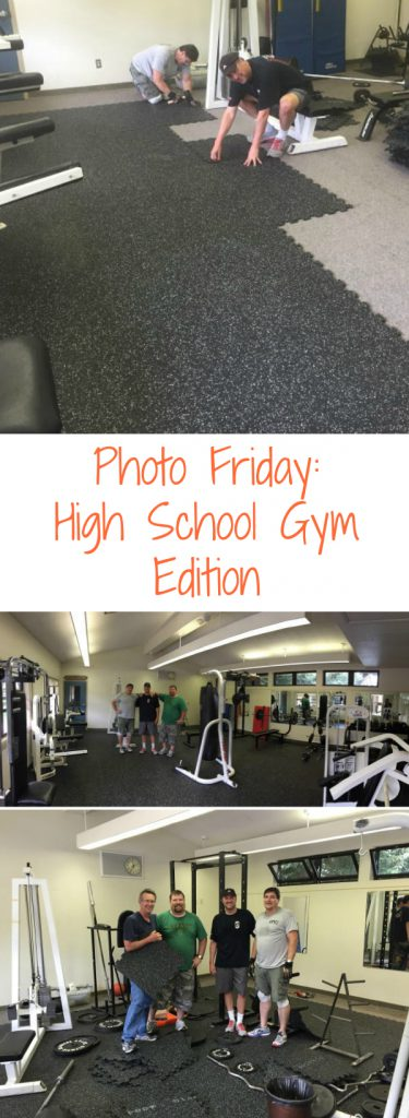 Photo Friday: High School Gym Edition. Check out the sweet upgrade to this high school gym with a brand new rubber floor. They installed it themselves in just a few hours!