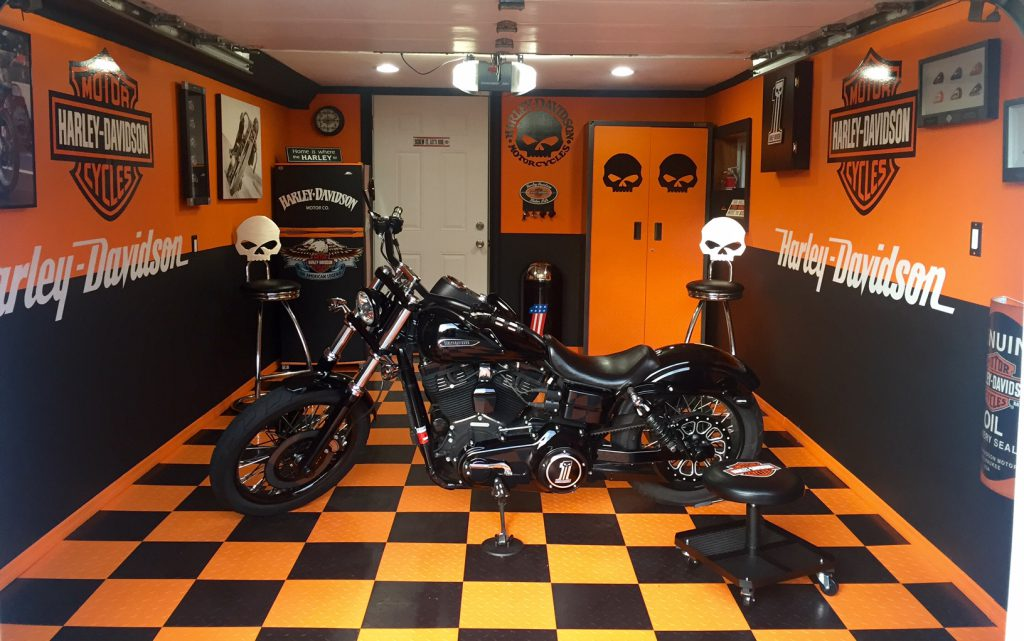Photo Friday 29: A Harley Haven. Check out this awesome, updated garage fancy enough to show off your Harley Davidson!
