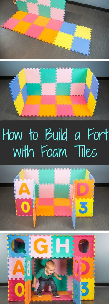 How to Build a Fort with Foam Tiles in 6 Easy Steps: Take your foam floor to the next level with this easy activity. Fun for parents and kiddos alike!