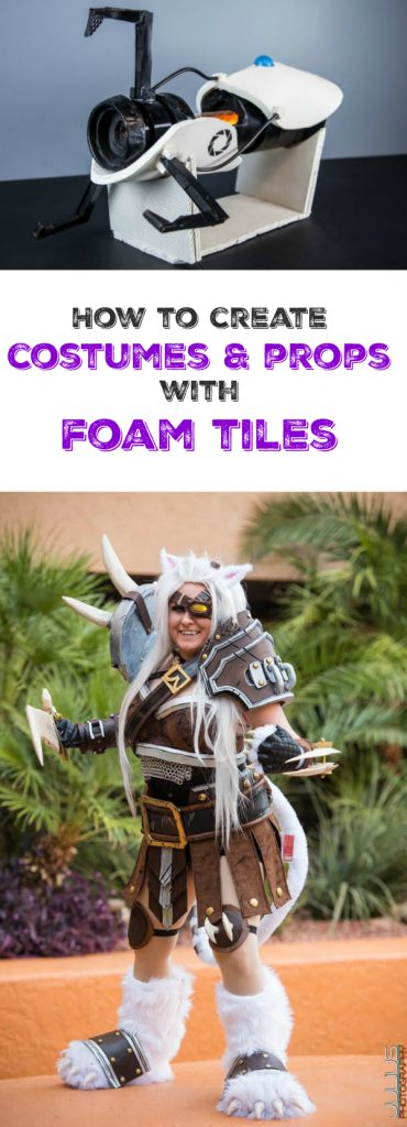 How to Create Costumes & Props with Foam Tiles: Learn from Cosplay expert, KayPickle, how she creates her most durable and detailed pieces using foam tiles