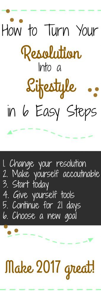 How to Turn Your New Year's Resolution Into a Lifestyle in 6 Steps: Make resolutions that stick with these 6 easy steps