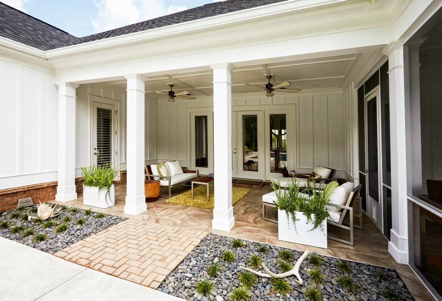8 outdoor flooring options for style comfort for Covered porch flooring options