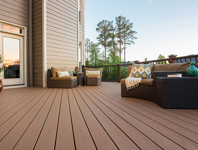 composite decking with furniture