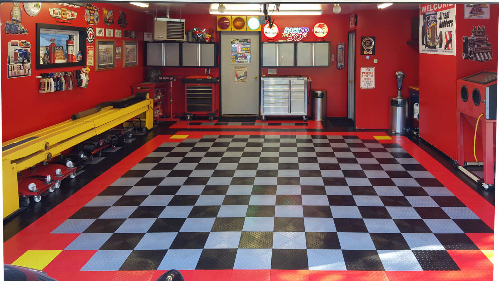 garage floor tile limitations