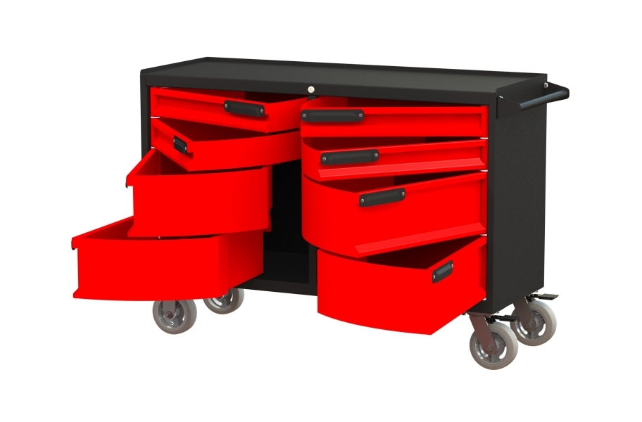 Swivel Storage Pivot 8-Drawer Workbench