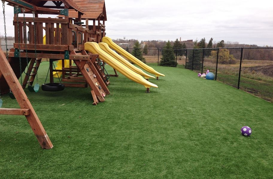 Outdoor sports and field turf in a playground setting