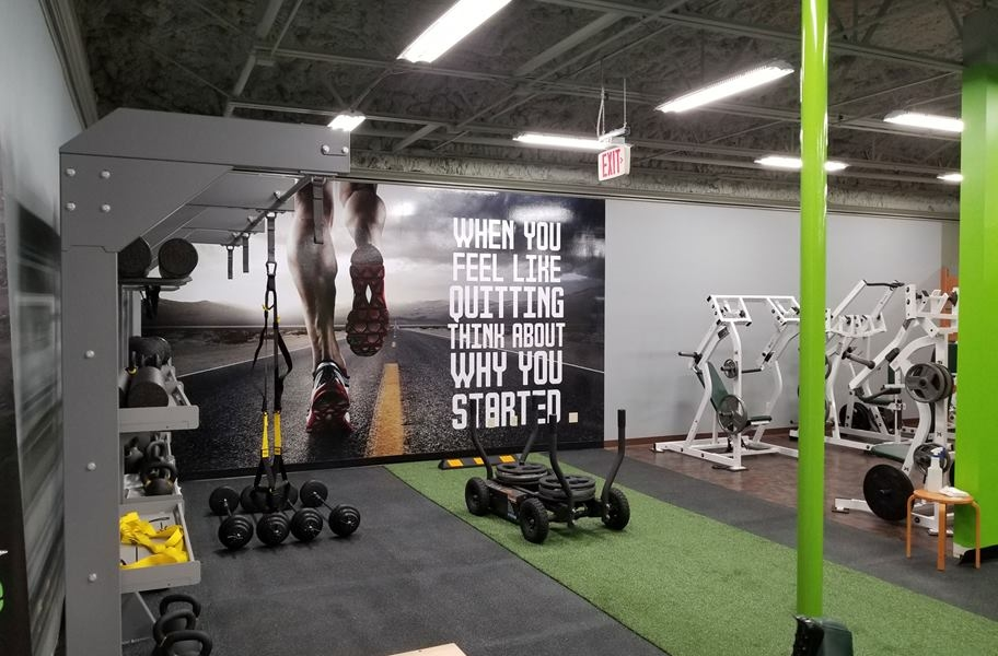 Gym turf in a commercial gym.