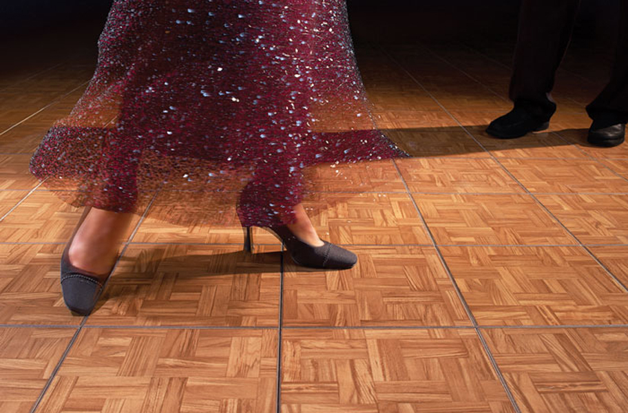 Modular Grid-Loc tiles, perfect for portable dance flooring