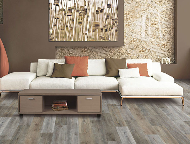 vinyl plank flooring in living room setting
