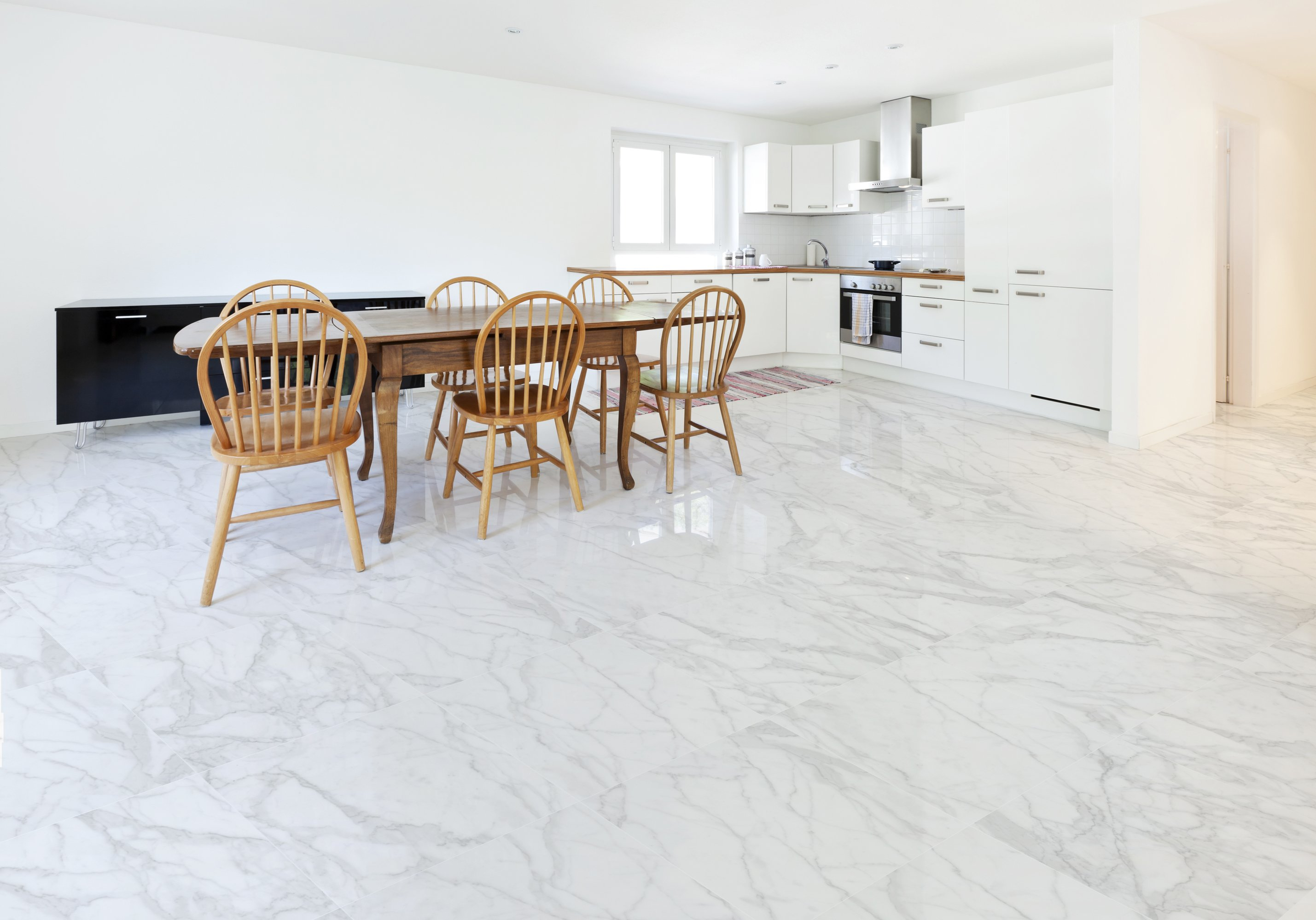 White Kitchen Flooring Ideas Part - 36: 2018 Kitchen Flooring Trends: 20+ Flooring Ideas For The Perfect Kitchen.  Get Inspired