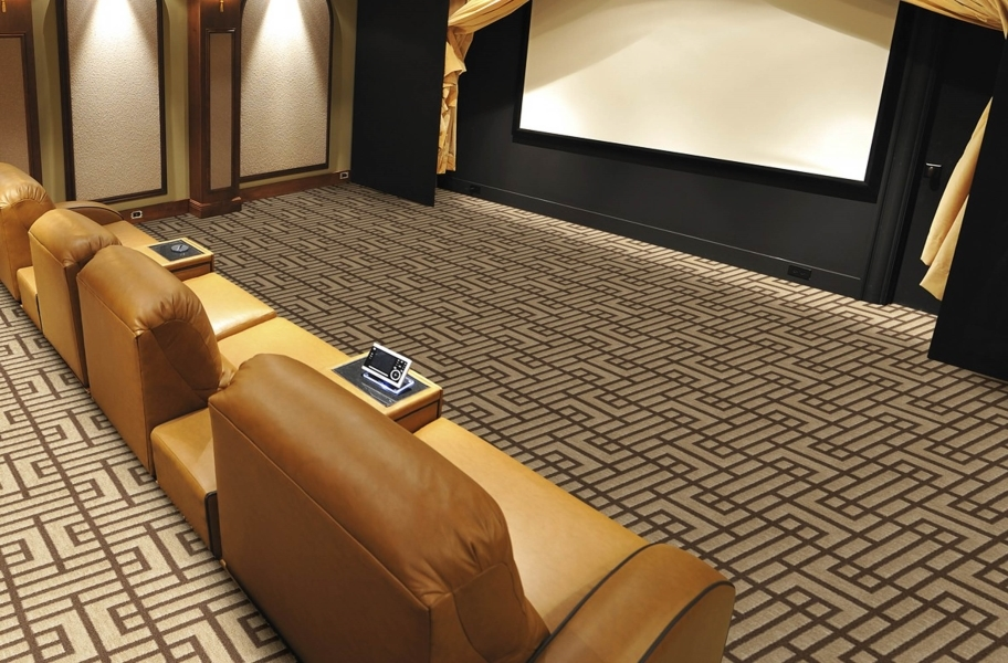 Flooring Inc Carpet Buying Guide: Broadloom carpet in a home theater