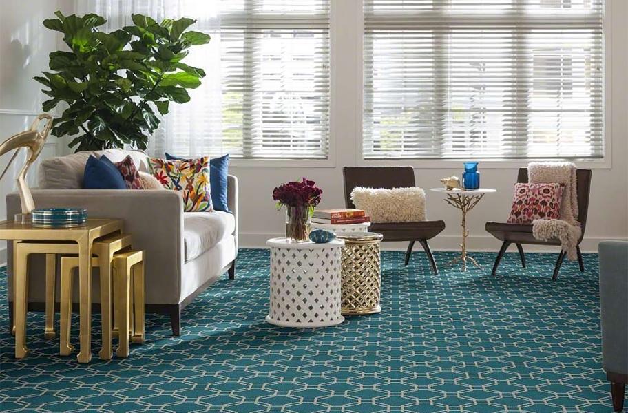 Flooring Inc. Carpet Buying guide: colorful geometric broadloom carpet