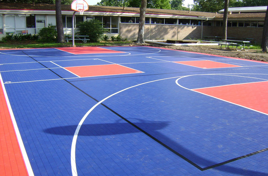 Ready to shoot some hoop? We've got the basketball court flooring that'll step up your game. No more bank shots on hard concrete. Instead, grab a ball, and practice some layups on your new court floors.
