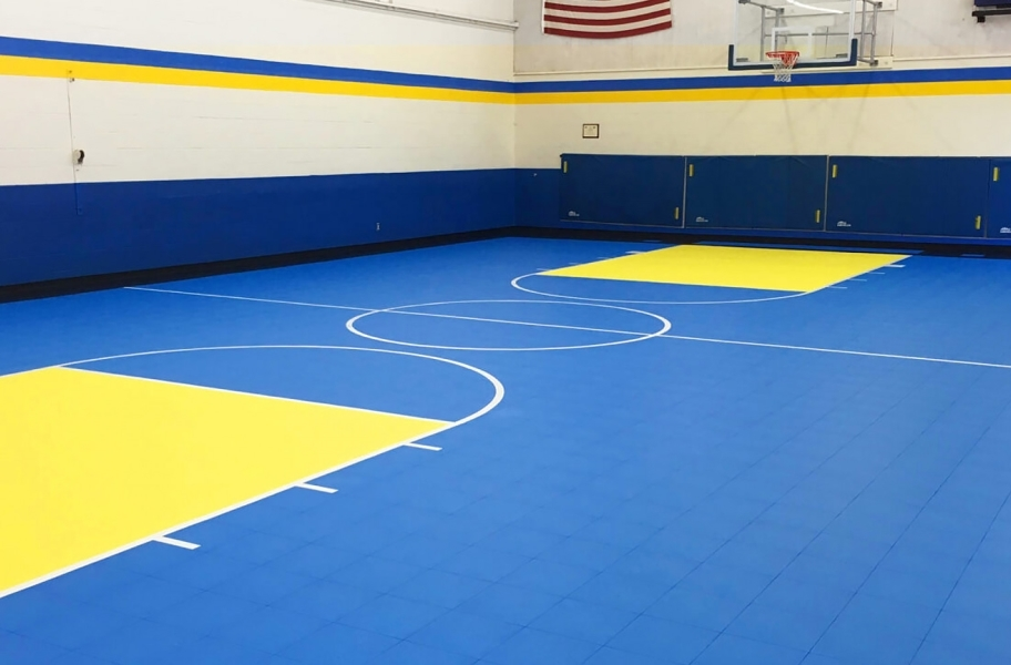 Court flooring guide: Premium indoor sports tile flooring for an indoor basketball court