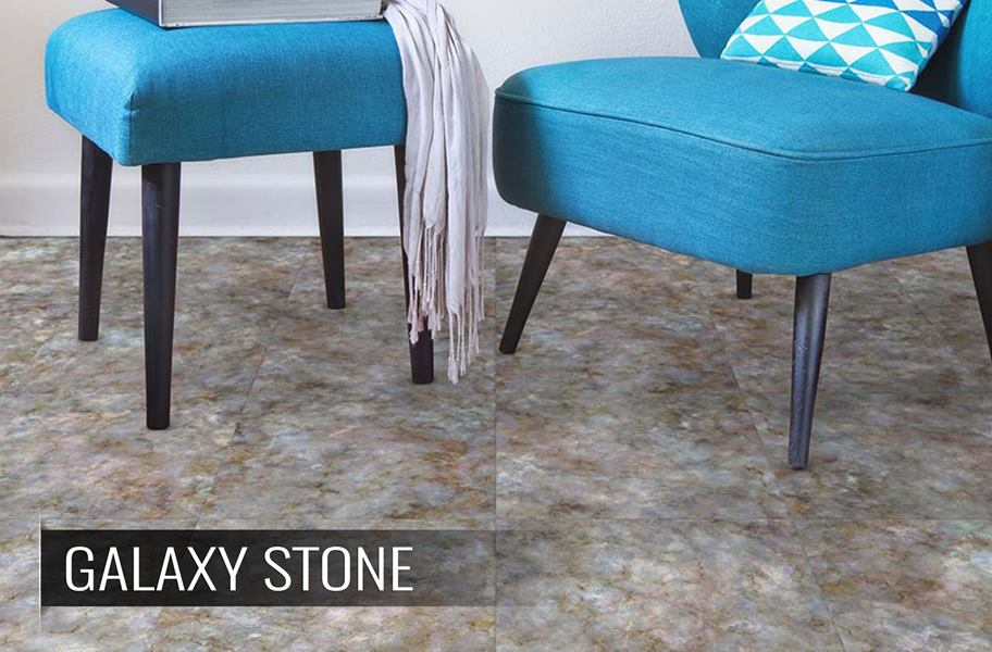 vinyl tile flooring and dining chairs