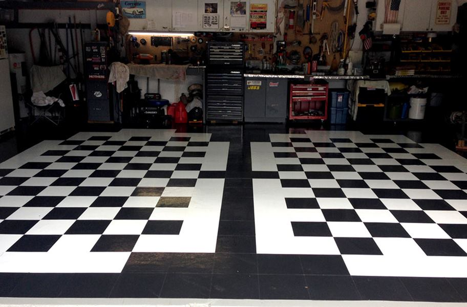 peel and stick vinyl tiles in garage