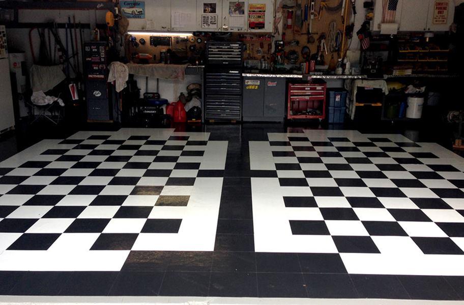 peel and stick vinyl tiles in garage