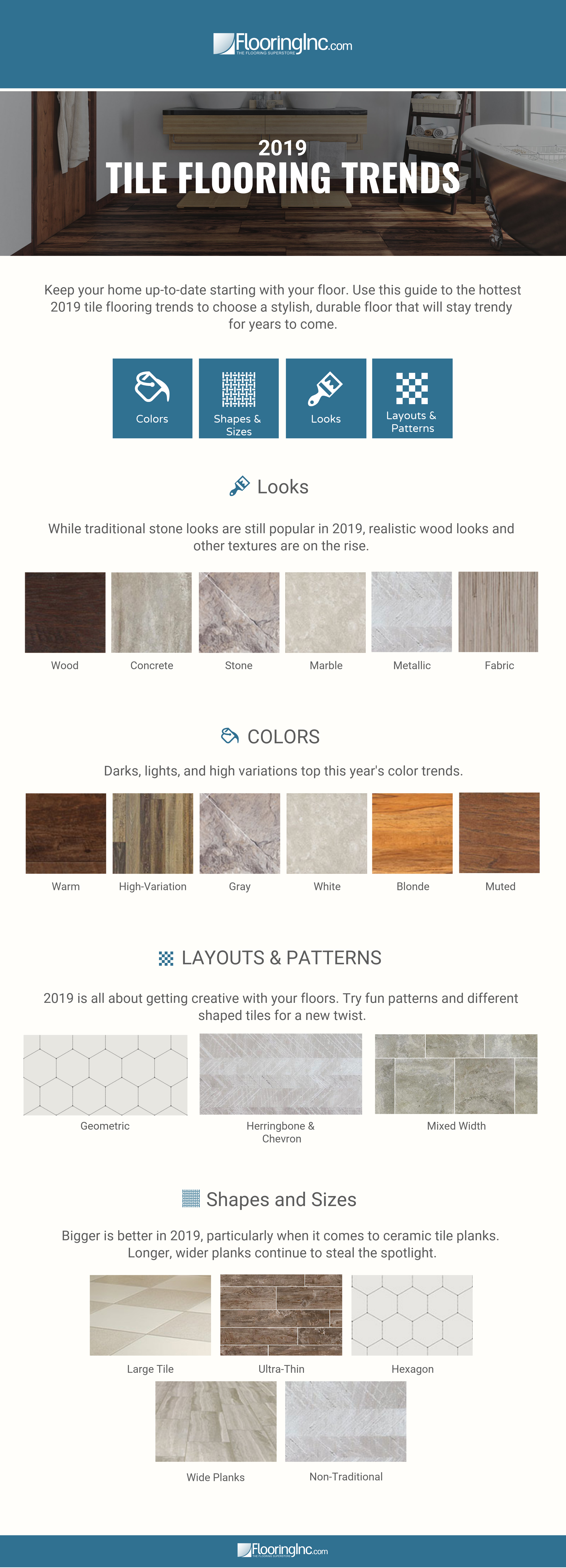 2019 Tile Flooring Trends: 21 Contemporary Tile Flooring