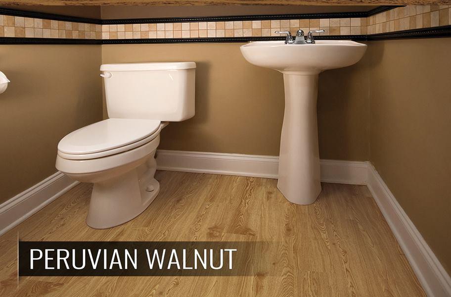 blonde waterproof vinyl planks for bathroom