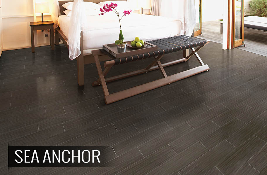 dark tile plank flooring